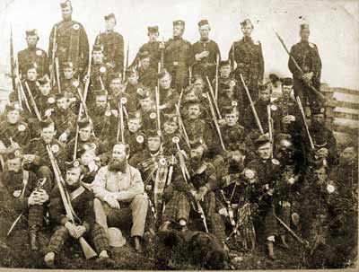 Queen's Own Rifles 10 Company Highlanders shortly after the battle in 1866.