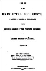 US Congressional Reports 1867